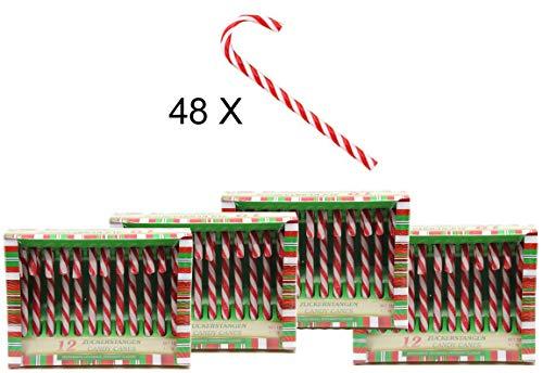 bada Bing zucchero filato Candy Canes gestreift Lollie regalo di natale, 48 tlg.