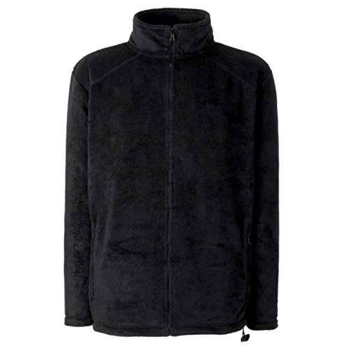 Fruit of the Loom Herren Outdoor-Fleecejacke Gr. XL, Schwarz