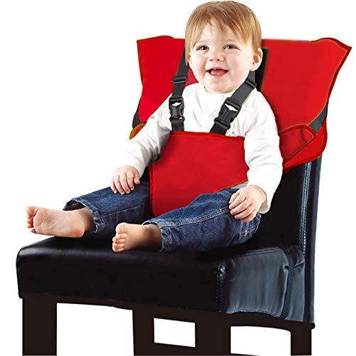 Arnés De Seguridad Infantil, Conveniente, Rápido Y Fácil, Adecuado para Todos Los Comidas (6-30 Meses) |,Rojo