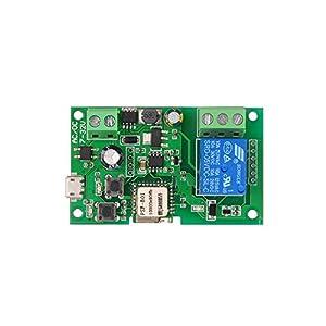 OWSOO-Mdulo-de-rel-inalmbrico-de-interruptor-WiFi-4CH-DC-5v-12v-32v-con-mando-a-distancia-compatible-con-Alexa-control-de-voz-para-hogar-inteligente