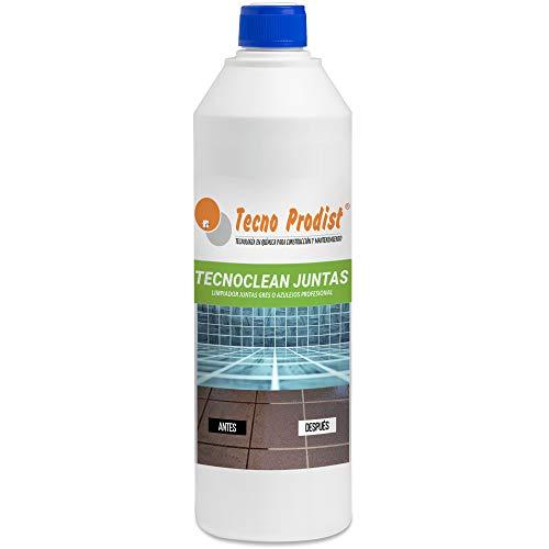 TECNOCLEAN JUNTAS de Tecno Prodist (1 Litro) Limpiador profesional de juntas de pavimentos, baldosas, gresite y azulejos en duchas, cocinas, baños, para suelos y paredes