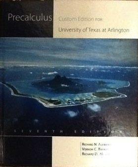 Precalculus Custom Edition UTA (Precalculus Seventh Edition) 113344492X Book Cover