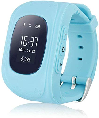 Mobicloud Q50 Smart Watch for Kids Children Wrist Watch with Anti-Lost, GPS Tracker, SOS Call, Location Finder, Compatible with iPhone and Android Smartphones (Sky Blue)