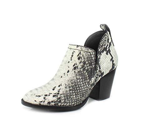 Jeffrey Campbell Womens Rosalee Black White Snake Boot - 6.5