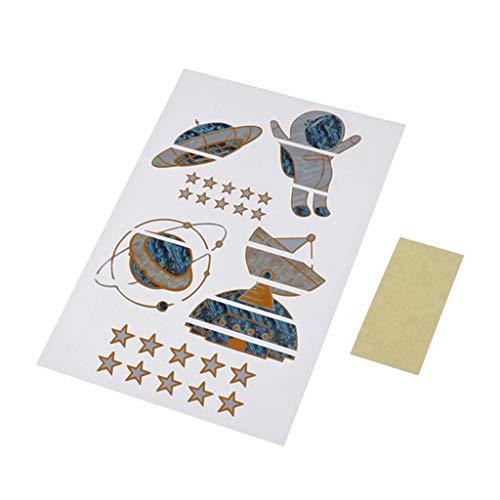 DIY Griffbrett Aufkleber Sticker Inlay für Gitarre Griffbrett/Hals, Astronaut