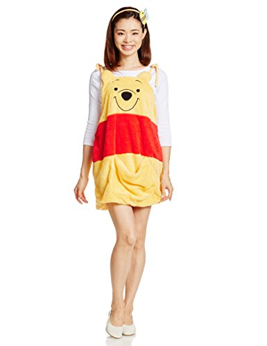 Disney Winnie the Pooh Overalls Kostuem Damen Kleidlaenge 74cm 95635