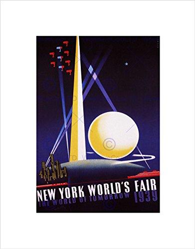 Wee Blue Coo Kulturowe targi świata Nowego Jorku 1939 vintage reklama sztuka ścienna druk