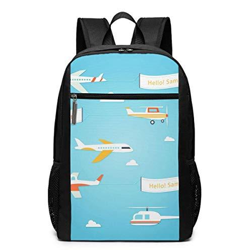 AOOEDM Travel Backpacks Creative Air Sky Cloud School Shoulder Laptop Daypack Bags 17 Inch for Girls Boys Men Womens, Black
