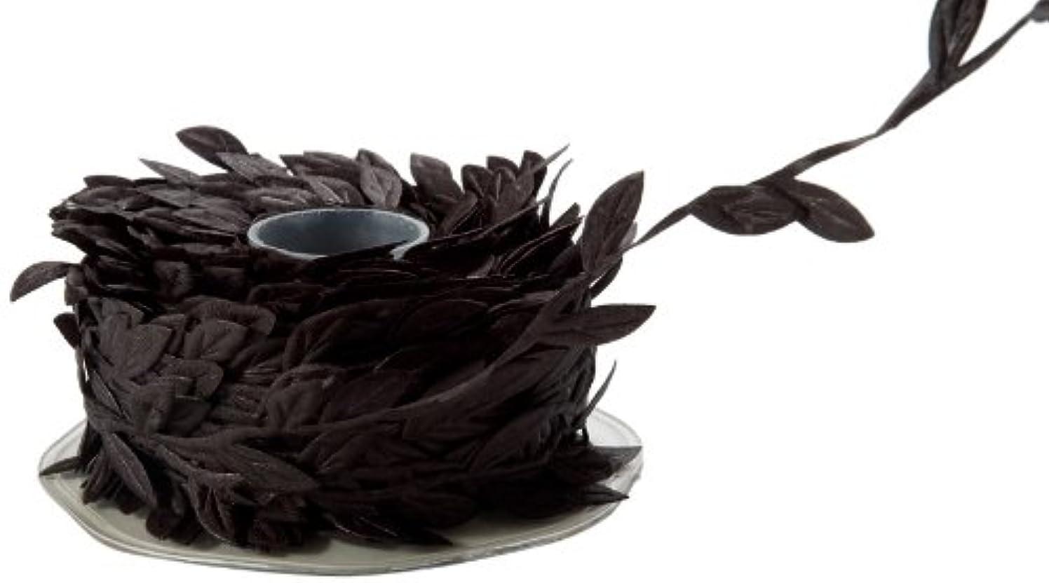 May Arts Ribbon, Black Leaves