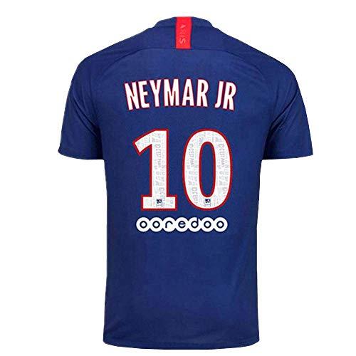 Neymar JR 10 Paris St Germain 2019-2020 Home Mens Socce Jersey Size L Blue
