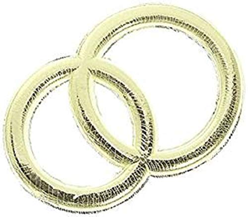 KnorrPrandell 8306206 Wachs-Eheringe, 32 mm, gold
