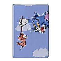 Tom & Jerry iPad ケース Apple Pencil対応 強化ガラス付き 手帳型 オートスリープ かわいい 耐衝撃 軽量 おしゃれ トムとジェリー iPad mini 4/5 7.9インチ