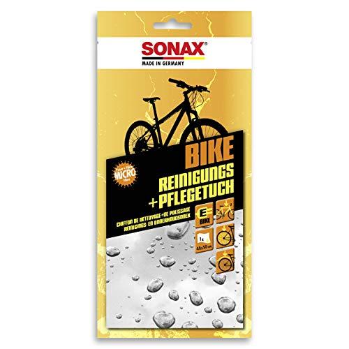 SONAX BIKE Reinigungs- & PflegeTuch (40x50 cm) Microfasertuch für die schnelle Reinigung & Pflege von Fahrrädern & E-Bikes, reicht für 1 komplette Anwendung | Art-Nr. 08520000