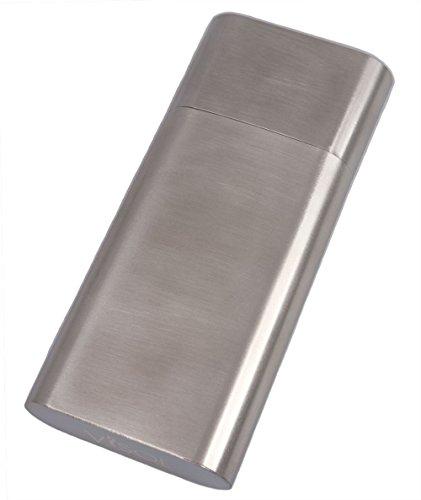 Visol Products Colton Brushed Steel Large Cigar Case - VCASE784
