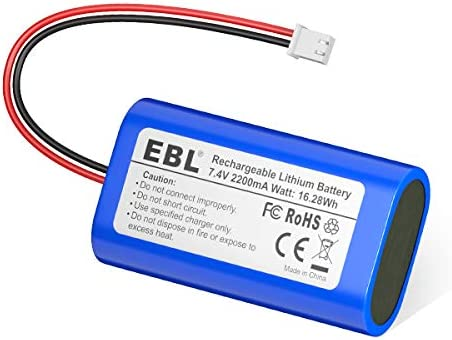 EBL 7 4V 2200mAh Li ion Rechargeable Batteries Replacement Batteries for Electronics Toys Lighting product image