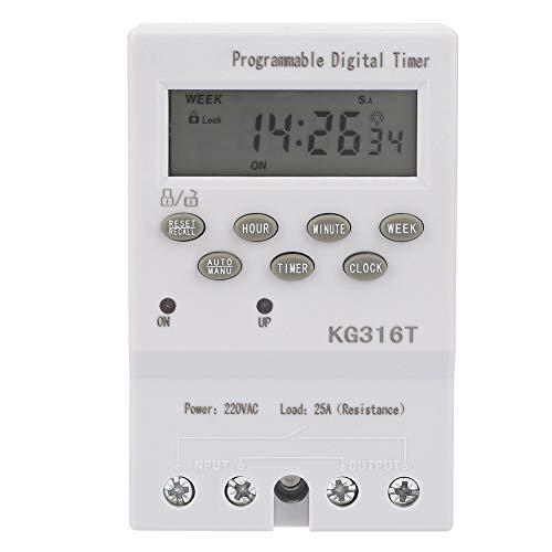Nikou, KG316T 220V, tijdschakelaar, programmeerbare automatische digitale tijdschakelklok