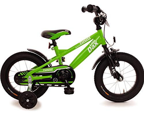 Fahrrad 14 Zoll Jungen Rücktrittbremse Ständer Stützräder Kinderfahrrad Kinderrad Jungenfahrrad Grün