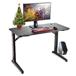 Huracan Mesa Gaming PC Escritorio para Computadora de Juegos Ergonómica Mesa Gamers en Fibra de Carbono con Gancho para…