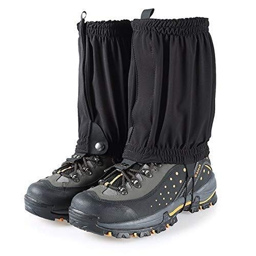 CFHY Hiking Gaiters Black Snow Gaiters Lightweight Leg Gaiters Low Gators Hiking Boots Waterproof Ankle Gaiters for Climbing Hunting Mountain Snow Walking Trekking 828