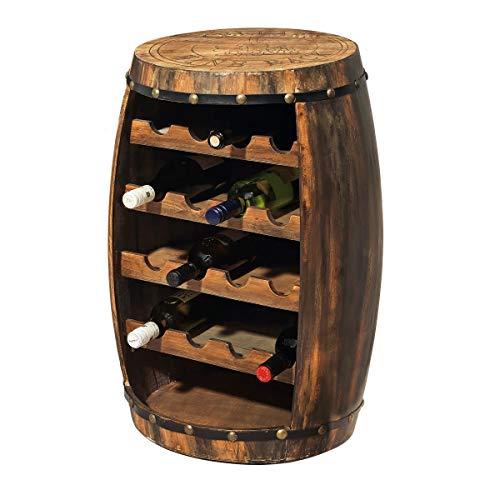 Pureday Flaschenregal Weinfass für 16 Flaschen