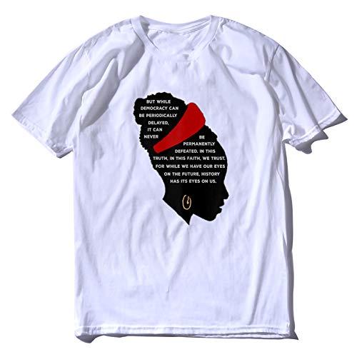 Unisex Tops Tee Amanda Gorman Became The Youngest Inaugural Poet in U.S. History Shirt Baumwolle T-Shirt für Herren Damen XXXL Gr. L, weiß