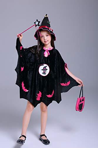fixiyue Disfraces De Halloween para Niños Trajes Europeos Y Americanos De Cosplay De Los Niños Trajes De Halloween Disfraces De Halloween 150cm Gato Negro