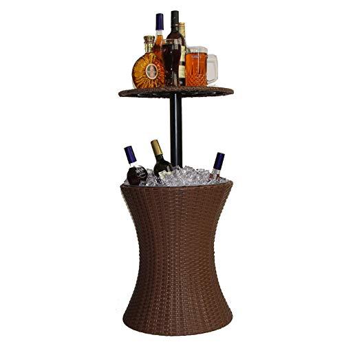WHCQ rotin Style Cool Bar extérieur Panaché Table Meubles de Jardin - Brown