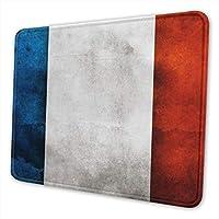マウスパッド フランスの旗 ゲーミング オフィス最適 高級感 おしゃれ 耐久性が良い 滑り止めゴム底 ゲーミングなど適用 マウスの精密度を上がる