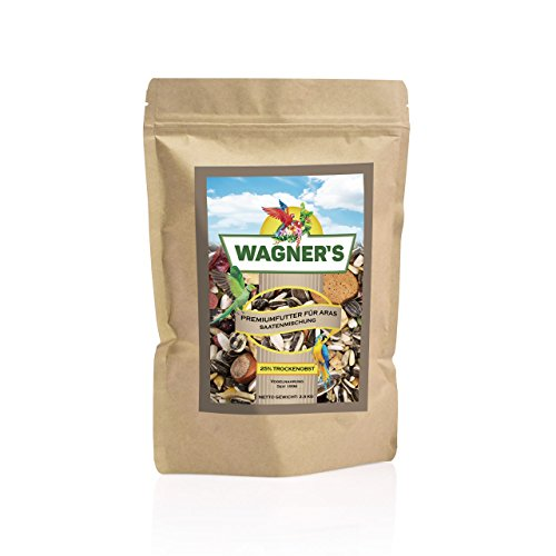 Wagner's ® | Premium Futter mit Obst für Aras - 2,5 kg Papageienfutter