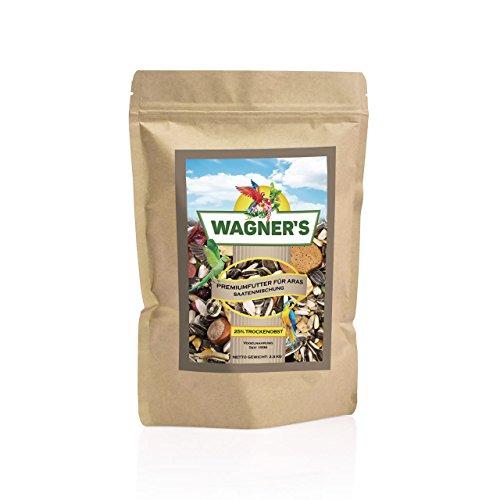 Wagner's ®   Premium Futter mit Obst für Aras - 2,5 kg Papageienfutter