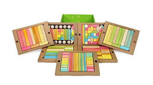 240 Piece Tegu Classroom Magnetic Wooden Block Set, Tints