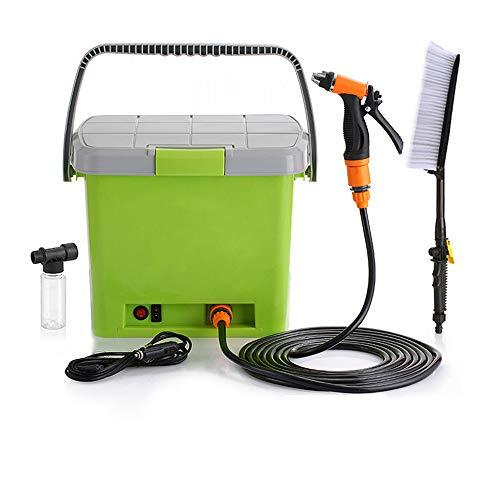 MAYER GB 洗浄機 洗車機 高圧 ポンプ ポータブル 水鉄砲 车载 充電 洗車 ポンプ 電動 多機能 壁 掃除 庭 一体式 蓄水箱 20L (緑)