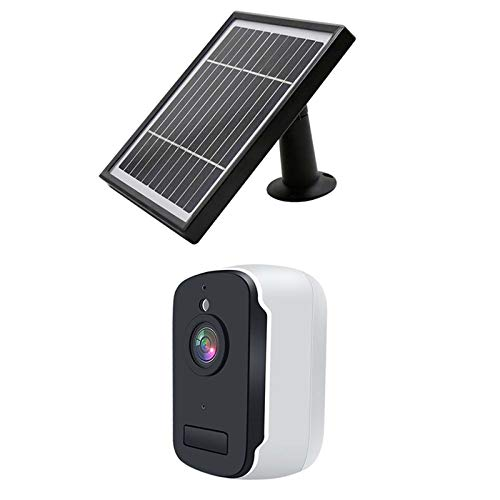 Cámara de vigilancia Solar inalámbrica al Aire Libre, cámara WiFi 1080p Detección de Movimiento HD, visión Nocturna, Audio de 2 Canales, Tarjeta SD/Almacenamiento en la Nube, ampliamente Utilizado a