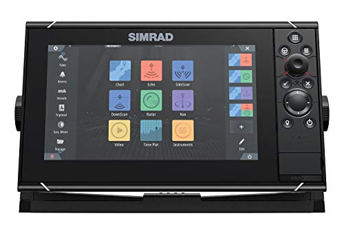Simrad NSS9 evo3S - 9-inch Multifunction Fish Finder Chartplotter with Preloaded C-MAP US Enhanced Charts