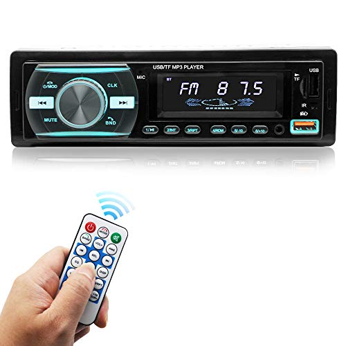 Car Stereo with Bluetooth Single din in Dash Car Stereo Receiver car Radio, Stereo for car, FM Radio, Support USB/SD/AUX wiress Remote Control