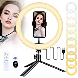Luce per Selfie Wolady Luce ad Anello LED Treppiede 10,2''...