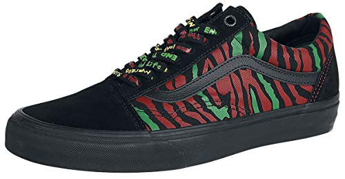Vans Unisex Authentic Skate Shoe Sneaker (7 Women / 5.5 Men, Black 7217)