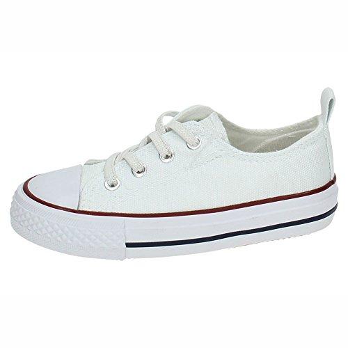 DEMAX 3-A1612A-12 Bambas Lona Blancas NIÑA Zapatillas Blanco 27