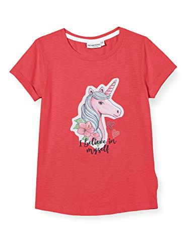 Salt & Pepper Mädchen 03112242 T-Shirt, Rosa (Strawberry Ice 830), 128 (Herstellergröße: 128/134)