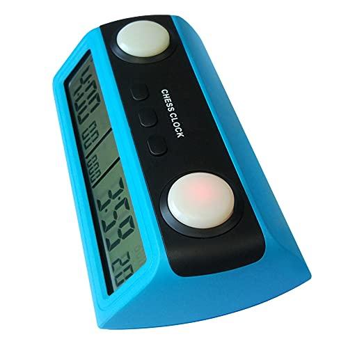 LHYCM Reloj De Ajedrez Digital para Juegos De Mesa, Reloj De Ajedrez Portátil con Función De Tiempo Limitado, Temporizador De Ajedrez Profesional Multiusos con Indicador De Botón