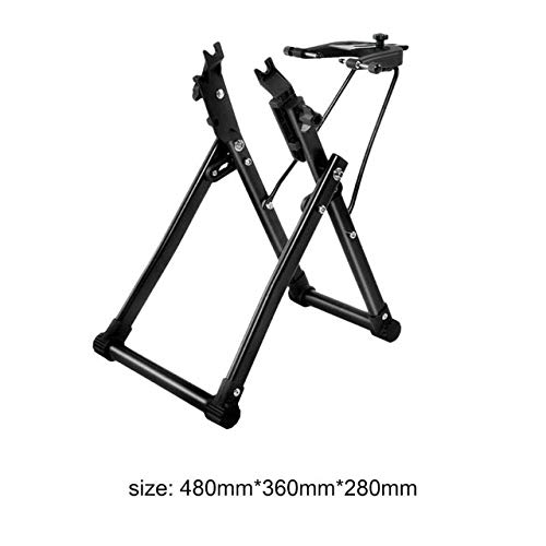No-branded YAGMGUS Bike Repair Stand Bike Wheel Truing Stand Home Mechanic Truing Stand Maintenance Repair Tool for 24/26/28in Mountain Bikes Folding Road Bicycle (Color : Type A Black, Size : Free)