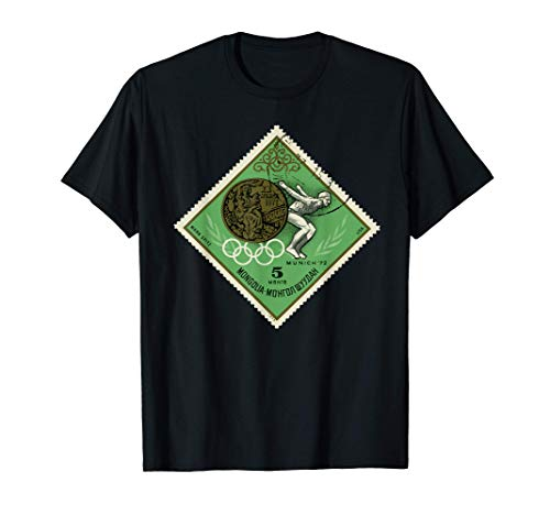 München Spiele 1972 Mongolei USA Post Briefmarke SOVI8 T-Shirt