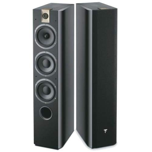 Focal Chorus 726 3-Way Bass Reflex Floor Standing Speakers, Black Piano Lacquer, Pair