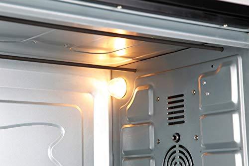 Jata HN966 Horno de Sobremesa con 4 Funciones Rotisserie Horno Grill y Convección con Capacidad de 66 l Luz Interior Bandeja y Parrilla Medidas Externas 64 x 40 x 40 cm