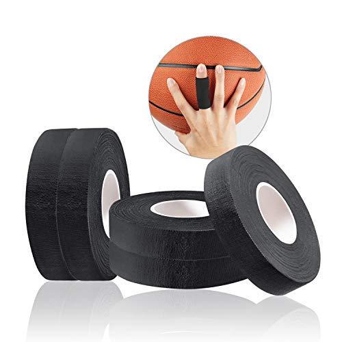 JEEZAO 5er Set Klettern Fingertape,BJJ Tape,Boulder Tape 15mm/10mmx13.7m, ideales Fingertape und Sporttape für Bouldern Kraftsport Volleyball Handball Kampfsport Torwart Golf (Schwarz,1cm)