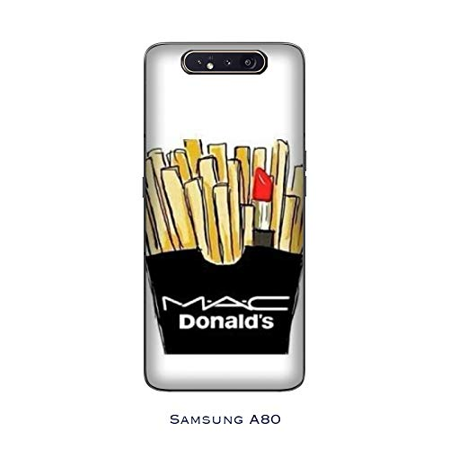 Case Galaxy A80 Cover designed for Samsung Galaxy A80 i love makeup mac donald's trucchi / Case Print also on the sides / Phone Hard Snap on Anti-slip Anti-slip Anti-scratch Shock-resistant Protective