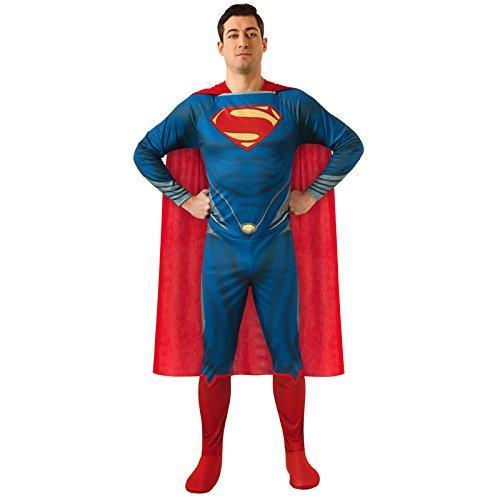 Aptafêtes - CS927156/M -Man of Steel - Costume Superman Adulte - Taille M