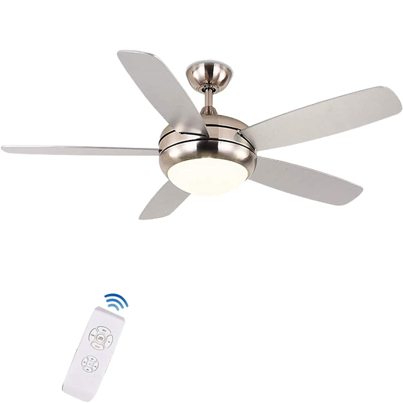 FINE MAKER 42inch Ceiling Fan Light with Remote Switch and Reversible ABS Blades Warm Light Silent Copper Wire Motor for Living Room, Bedroom, Dinning, Meeting Room