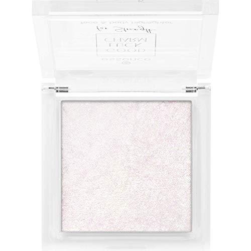 essence GOOD LUCK CHARM for Strength face & body highlighter, Nr. 01 Glitter Shower For Superpower, silber, glitzernd, strahlend, schimmernd (8g)