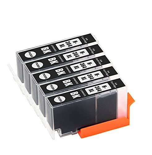 TONERPACK Reemplazos Compatibles para HP 364 364XL Cartuchos de Tinta para HP Photosmart 5520 6520 5510 6510 7510 7520 HP Deskjet 3070A 3520 HP Officejet 4620 4622 (5 Negro)